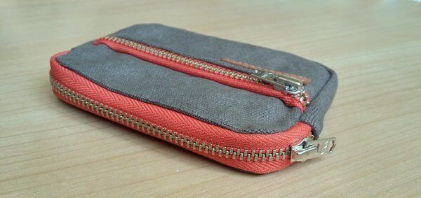 Men's front pocket wallet showing capacity