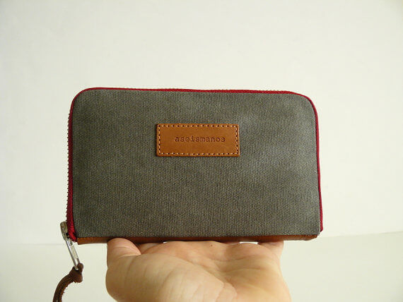 wallet held on hand