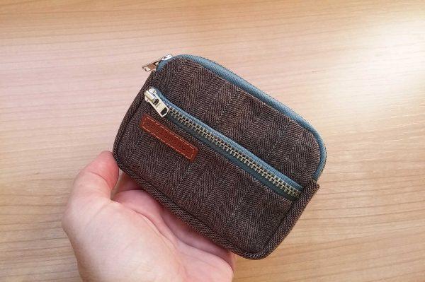 front pocket wallet held in hand