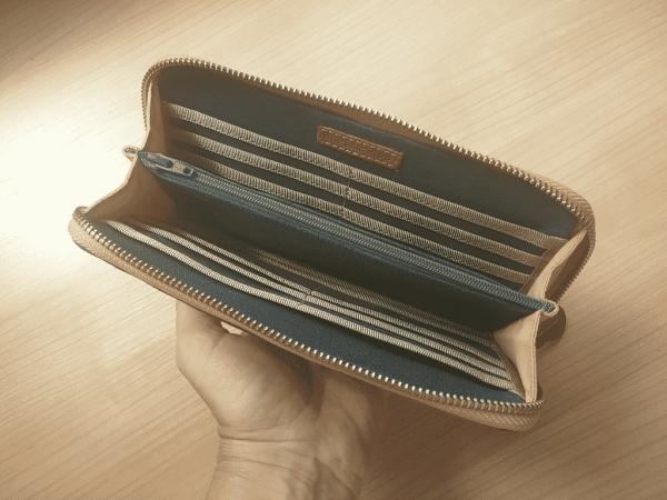 wallet inside view
