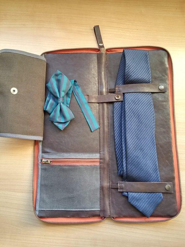 tie leather travel case aseismanos