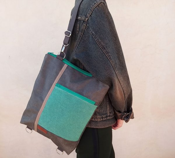 model wearing as a shoulder bag