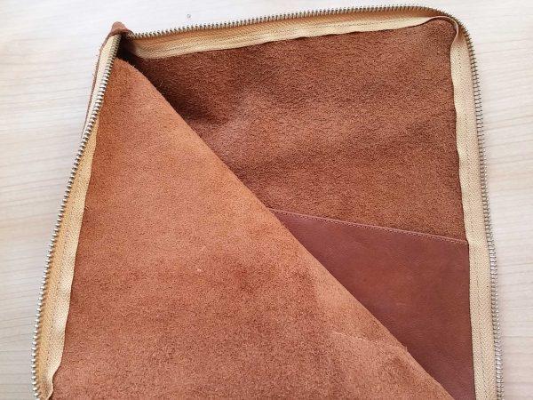 leather planner sleeve inside pocket