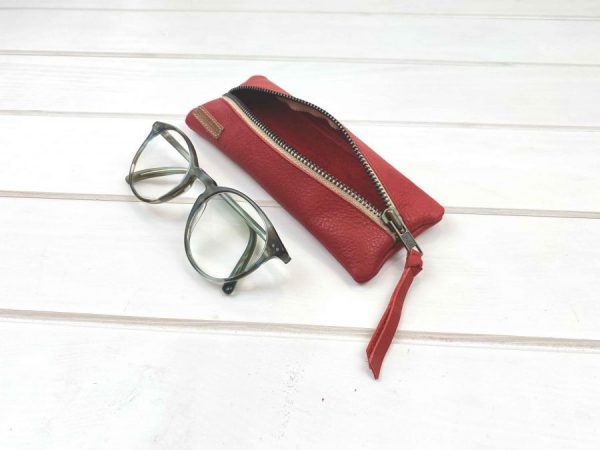 leather case used as a glasses case
