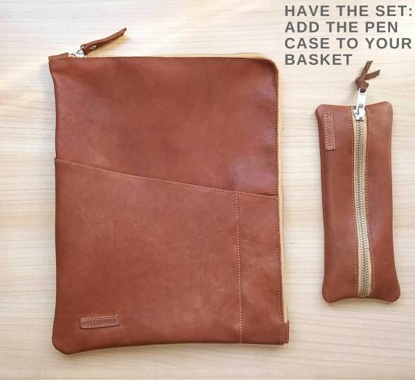 leather planner sleeve set