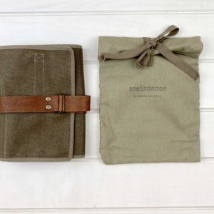 roll wrap closed with its textile bag