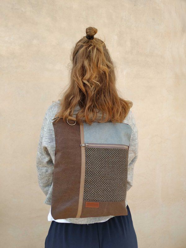 backpack on back