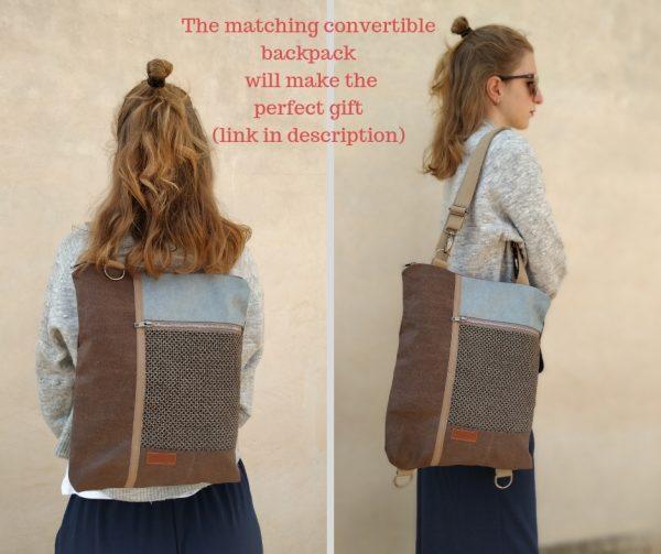 matching convertible backpack