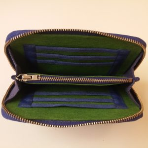 handmade emerald wallet