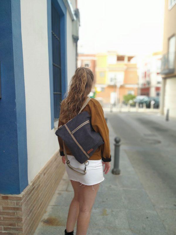 backpack on one shoulder