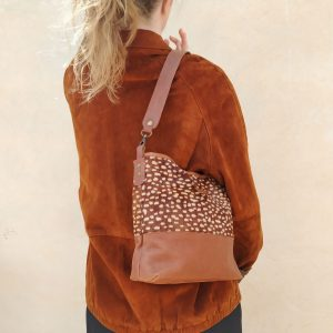 aseismanos hobo bag on the shoulder