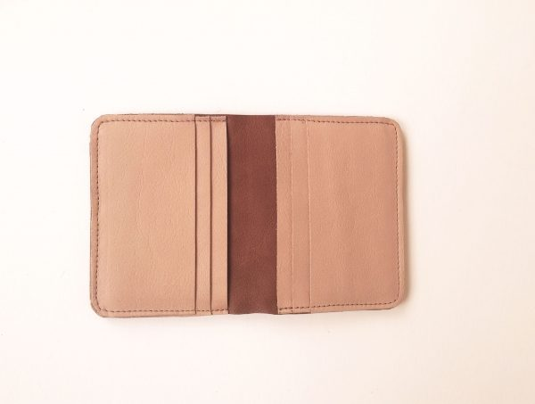 Open and empty card wallet