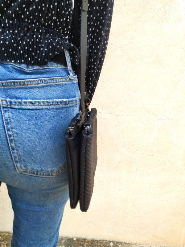 vista lateral del bolso