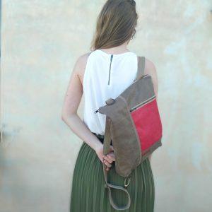 mochila en espalda