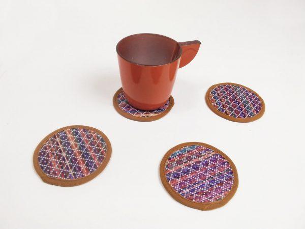 raffia coasters set