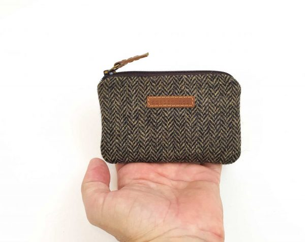 showing size of wallet against had