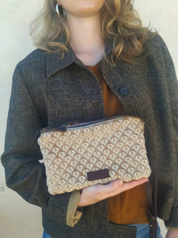 clutch tapestry bag