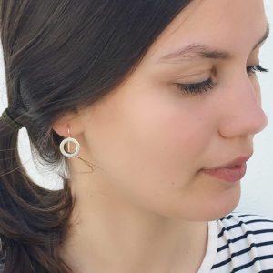 earrings worn by a girl