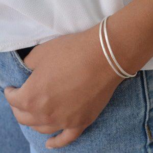 bracelet being worn