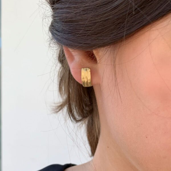 earrings being worn