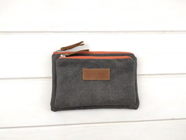 gray wallet front view