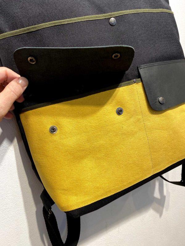 laptop backpack showing front pocket