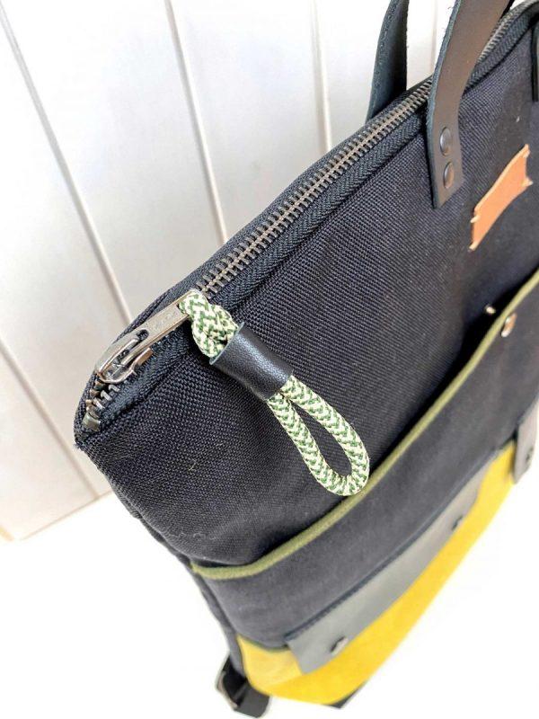 unisex laptop backpack zip pull