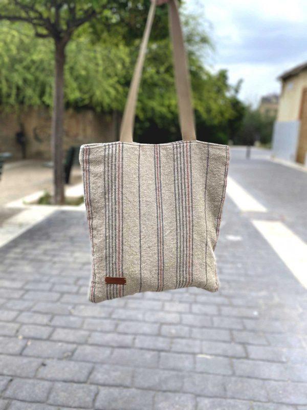 linen bag held in hand