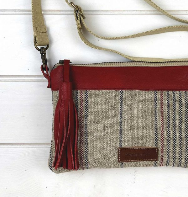 Linen bag close view