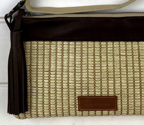 raffia bag close view of materials