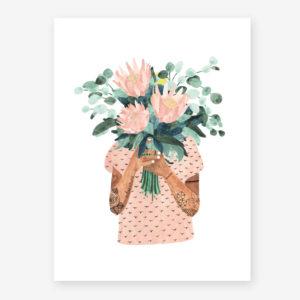 tatoo girl with flowers